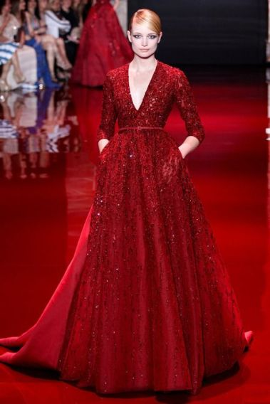 vestido vermelho elie saab