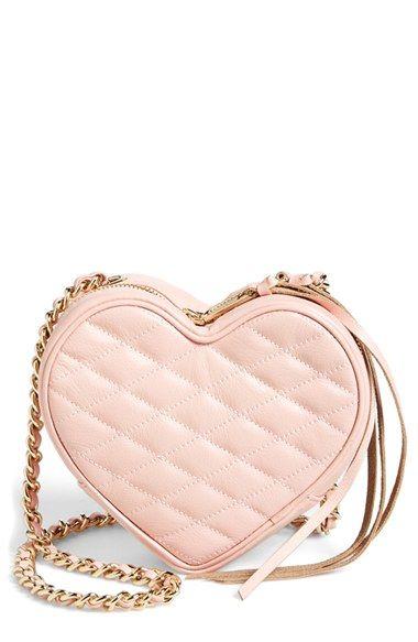 bolsa coração rosa